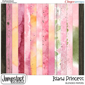 Island Princess {Blended Papers}