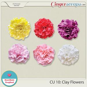 CU 10 - Clay flowers
