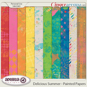 Delicious Summer - Painted Papers by Aprilisa Designs