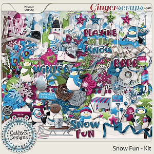 Snow Fun - Kit by CathyK Designs