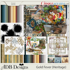 Gold Fever Heritage Bundle by ADB Designs