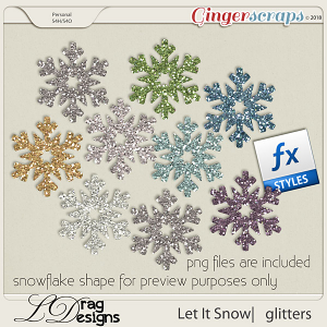 Let It Snow: Glitterstyles by LDragDesigns