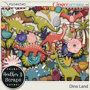 Dino Land ELEMENTS by Heather Z Scraps