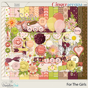 For The Girls Digital Scrapbook Kit by Dandelion Dust Designs