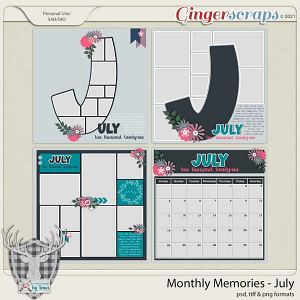 Monthly Memories - July by Dear Friends Designs by Trina