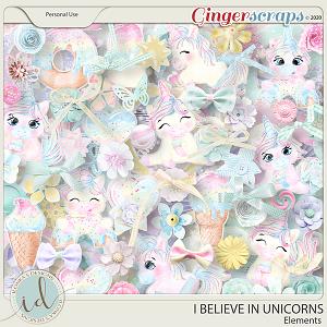 I Believe In Unicorns Elements by Ilonka's Designs