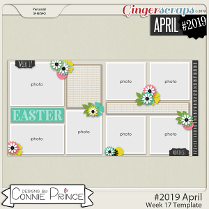 #2019 April - Week 17 Template Pack (CU Ok) by Connie Prince