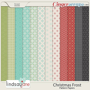 Christmas Frost Pattern Papers by Lindsay Jane