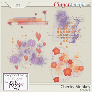 Cheeky Monkey Accents by Scrapbookcrazy Creations