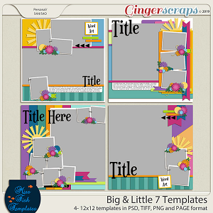 Big & Little Templates 7 by Miss Fish