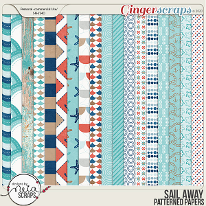 Sail Away - Patterned Papers - by Neia Scraps