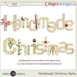 Handmade Christmas Alpha by Karen Schulz
