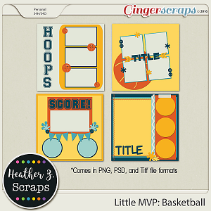 Little MVP: Basketball TEMPLATES by Heather Z Scraps
