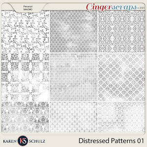 Distressed Patterns 01 by Karen Schulz