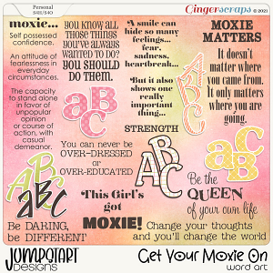 Get Your Moxie On {Word Art}