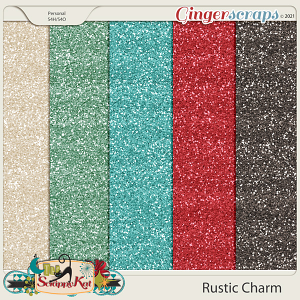 Rustic Charm Glitter Papers by The Scrappy Kat