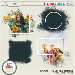Enjoy The Little Things Photo Masks & Frames by JB Studio