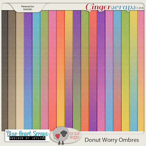 Donut Worry Ombre Papers by Luv Ewe Designs and Blue Heart Scraps