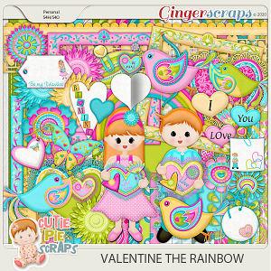 VALENTINE THE RAINBOW - Page Kit