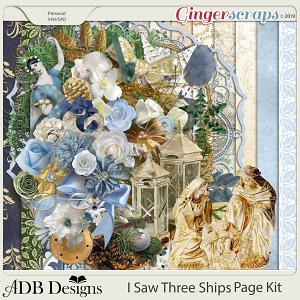 I Saw Three Ships Page Kit by ADB Designs