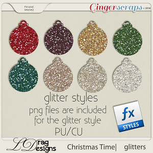 Christmas Time:Glitterstyles by LDragDesigns