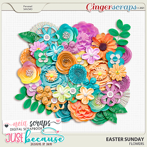 Easter Sunday Flowers by JB Studio and Neia Scraps