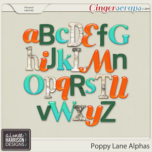 Poppy Lane Alpha Sets by Aimee Harrison