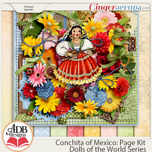 Conchita Page Kit {DOTW Mexico} by ADB Designs