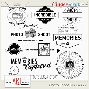 Photo Shoot Word Art