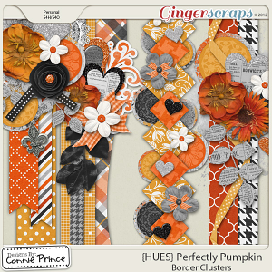 {HUES} Perfectly Pumpkin - Border Clusters