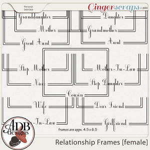 Heritage Resource - Relationship Frames [female] by ADB Designs