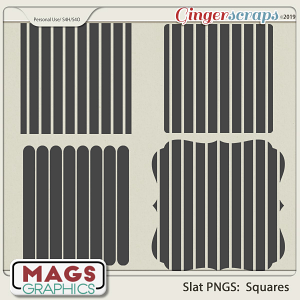 SLAT SQUARES PNG Templates by MagsGraphics