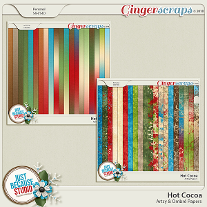 Hot Cocoa Artsy & Ombré Papers by JB Studio