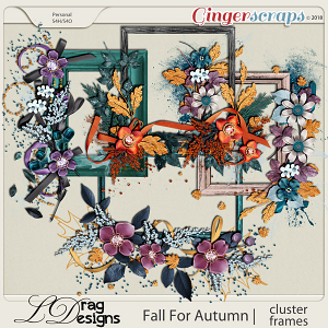 Fall For Autumn: Cluster Frames by LDrag Designs