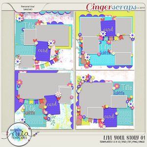 Live Your Story 01 - Templates - by Neia Scraps