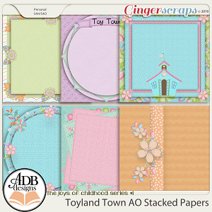 Toyland Town AO Stacked Papers by ADB Designs