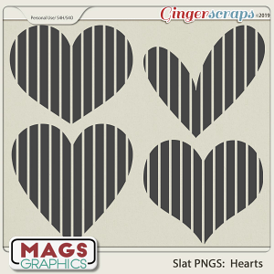 SLAT HEARTS PNG Templates by MagsGraphics