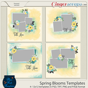 Spring Blooms Templates by Miss Fish