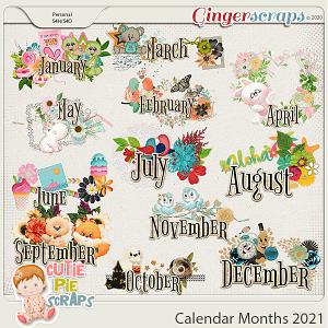 Calendar Months 2021- Months names for Calendar  2021