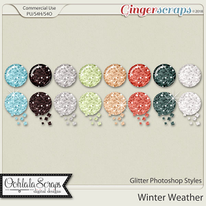 Winter Weather CU Glitter Photoshop Styles