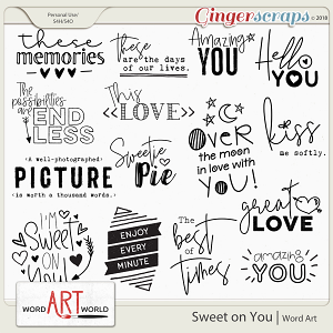 Sweet on You Word Art Pack