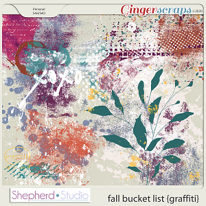 Fall Bucket List Graffiti Paints for Digital Scrapbooking by Shepherd Studio