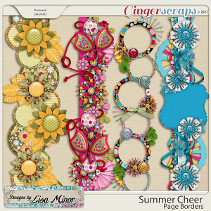 Summer Cheer Page Borders from Designs by Lisa Minor