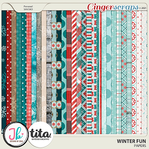 Winter Fun Papers by JB Studio and Tita
