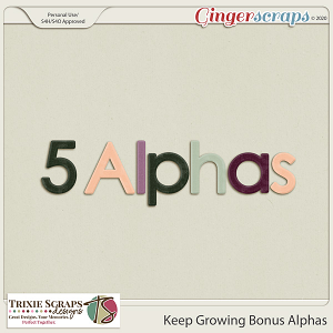 Keep Growing Bonus Alphas by Trixie Scraps Designs
