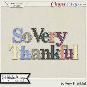 So Very Thankful Alphabets