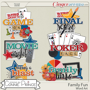 Family Fun - Word Art Pack by Connie Prince