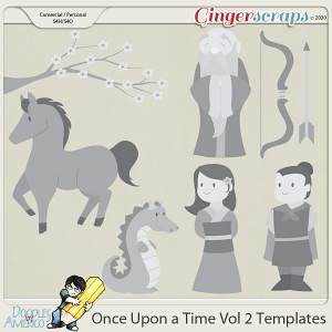 Doodles By Americo: Once Upon a Time Vol 2 Templates