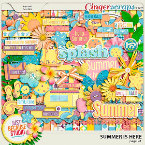 Summer Is Here Page Kit by JB Studio