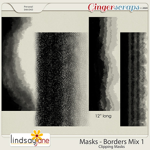 Masks Borders Mix 1 by Lindsay Jane